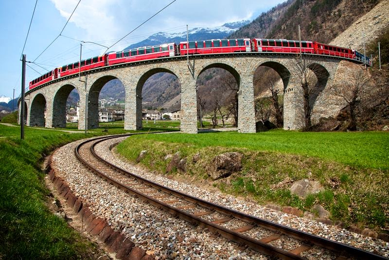 Brusio Spiral Viaduct, Switzerland