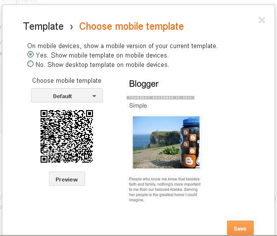 template mobile