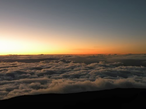 Sunset from the top of Haleakala Mountain
