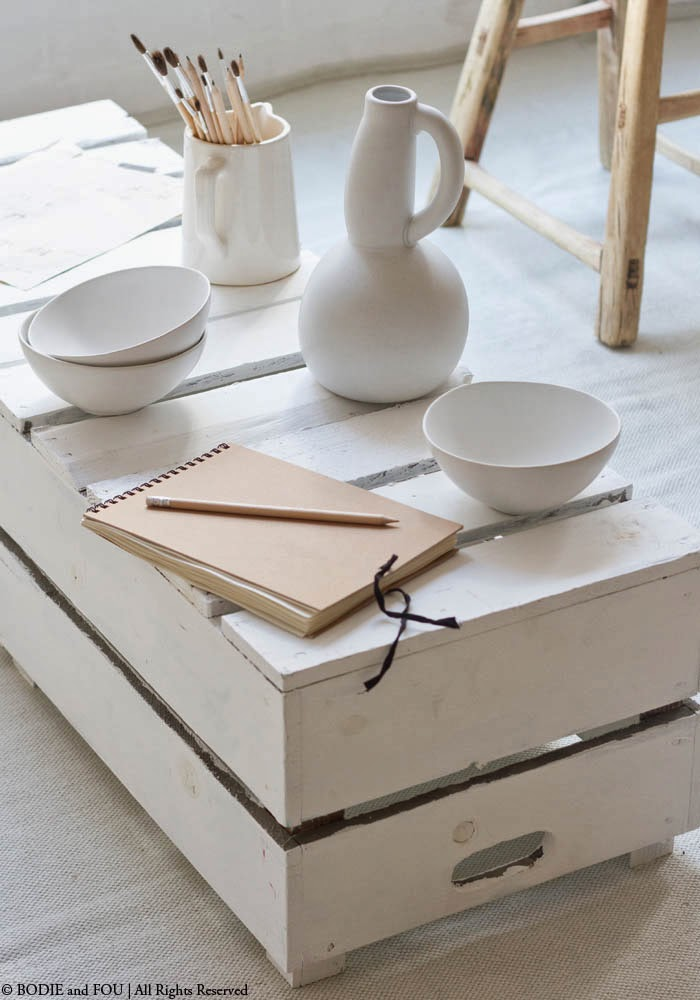 White ceramic bowls BODIE and FOU White Interiors