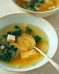 Miso Soup with Tofu and Kale image