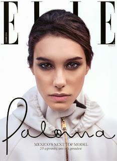 Magazine Cover : Paloma Aguilar Magazine Photoshoot Pics on Elle Magazine Mexico January 2014 Issue