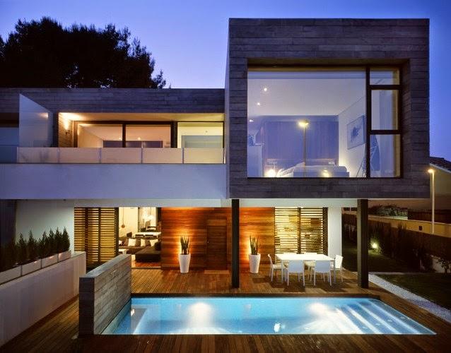 Desain Rumah Minimalis 2 Lantai Ada Kolam Renang