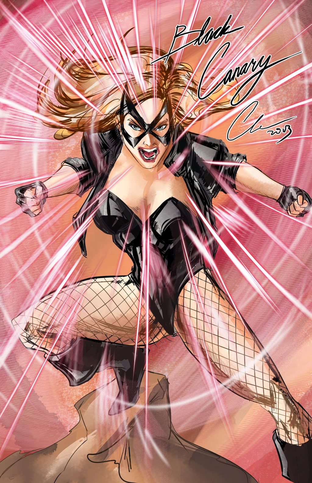 Black Canary, the 'Canary Cry' — a high powered sonic scream that could shatter objects and incapacitate enemies.
