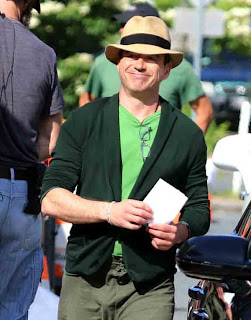 Robert Downey Jr a happy chappy in green