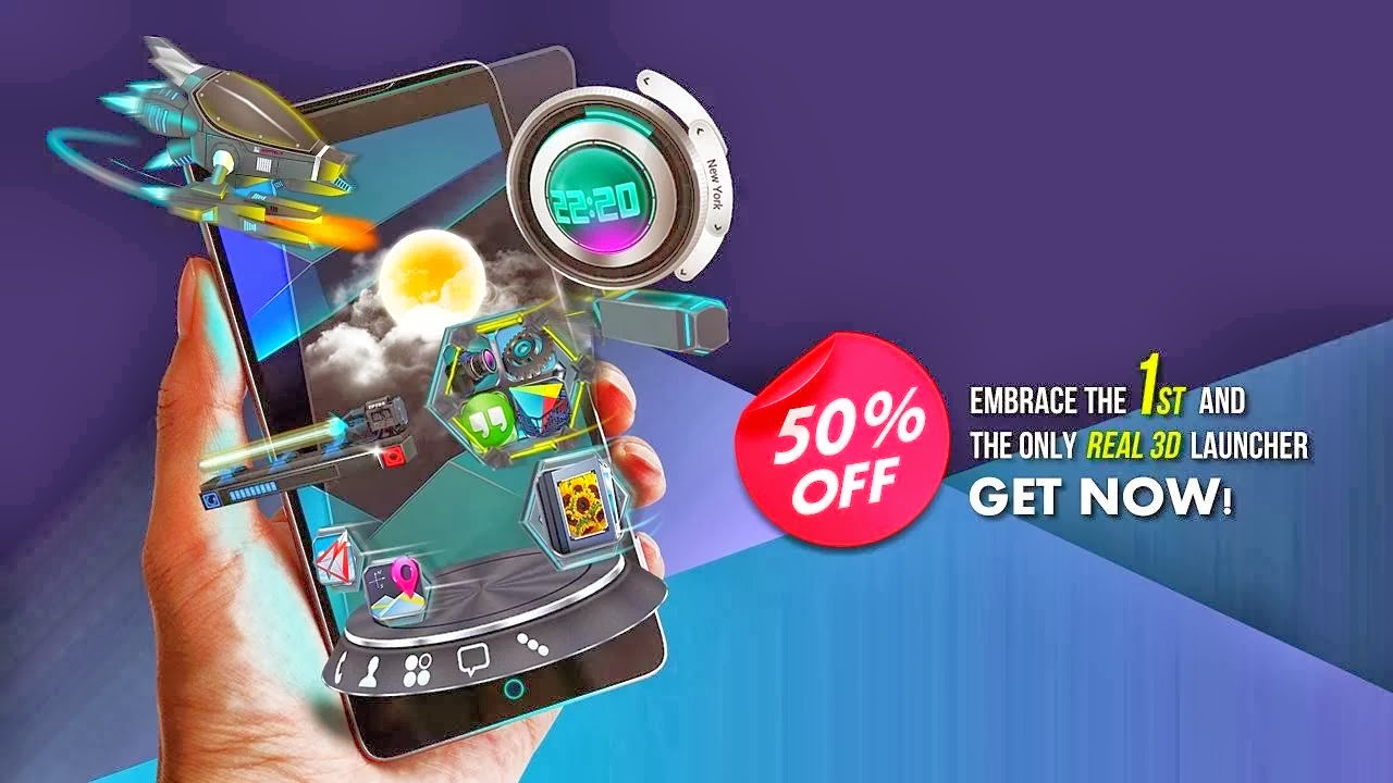 Next Launcher 3D Shell Apk v3.10 Full [Cracked / Sem Root]