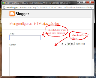 Mengkonfigurasi HTML