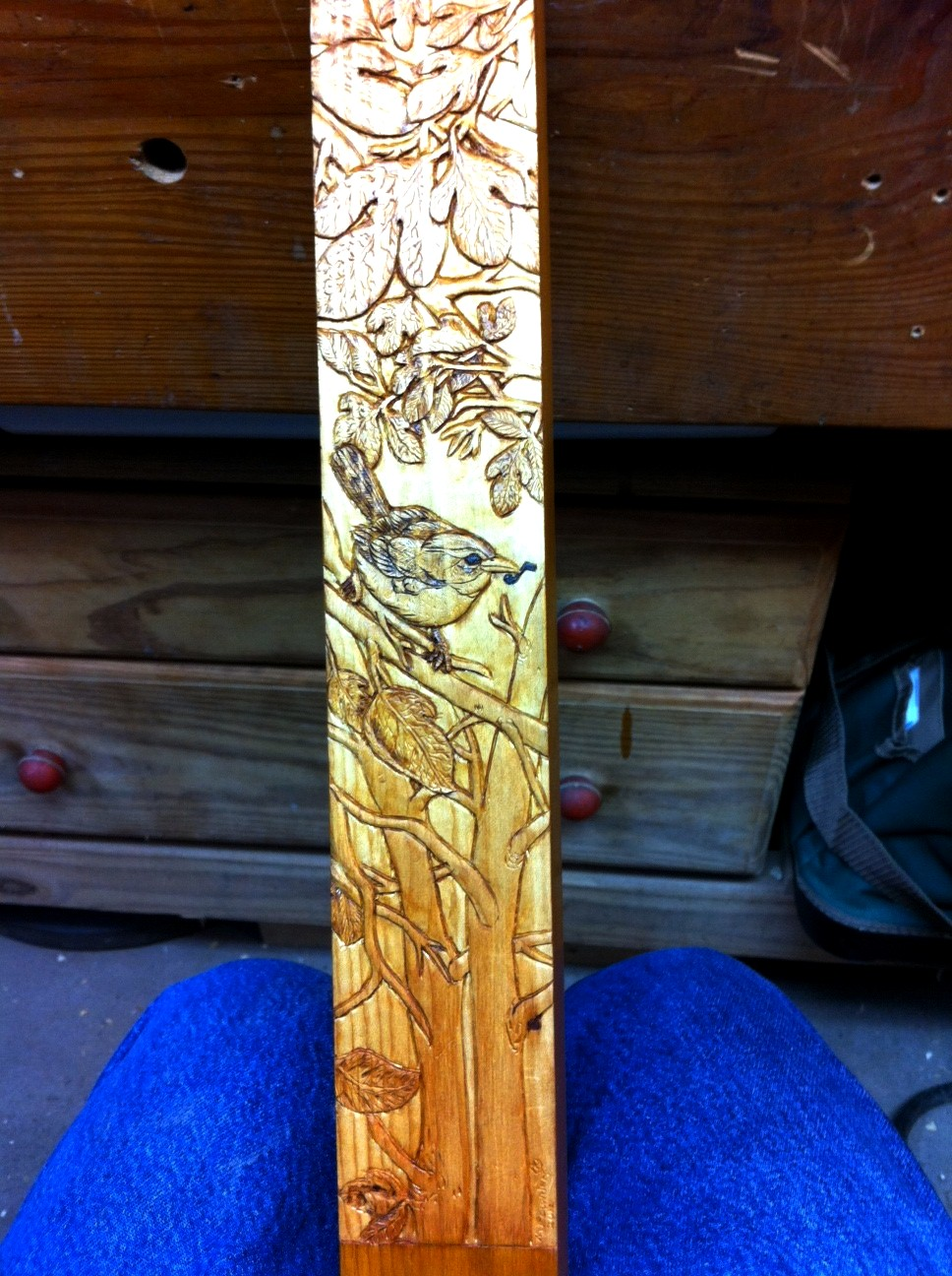A carving for the birdsongs woodcarving illustrated