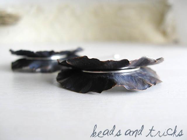 Orecchini foldforming rame e argento 925