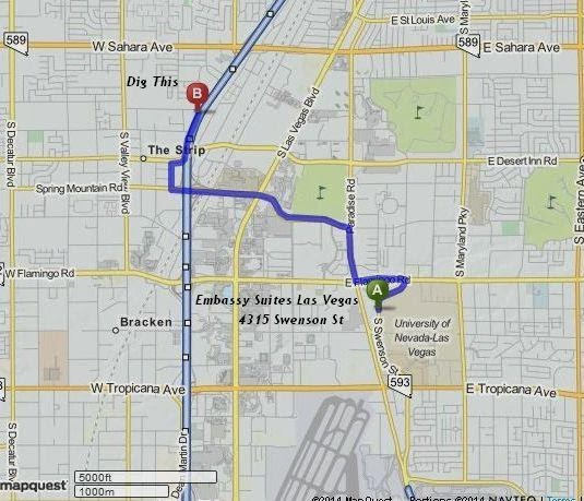 Dig This is 8 minutes/3 miles from Embassy Suites Las Vegas