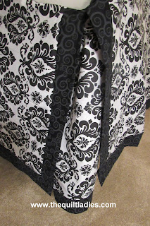 How to make a black and white bed ruffle, by The Quilt Ladies