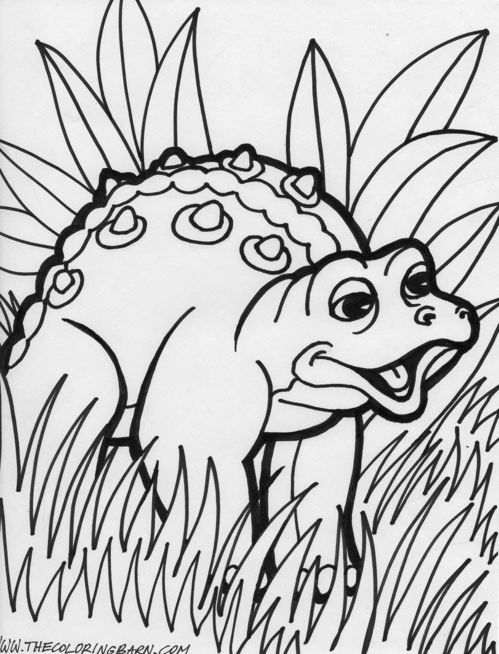 Cartoon Dinosaur Coloring Pages For Free Cartoon Dinosaur Coloring