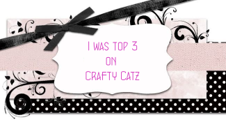 I made it in the Top 3 at Crafty Catz