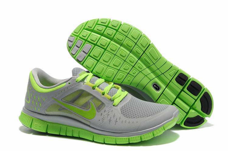 Nike Free Run 3 Womens Light Gray Pink    6699
