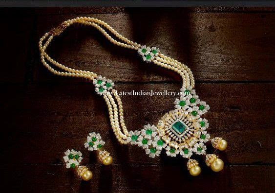 Pearls and Emeralds Diamond Haram