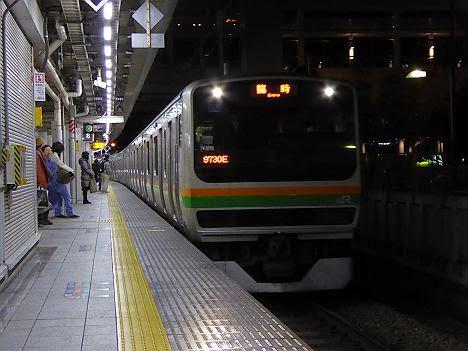 湘南新宿ライン 普通 小山行き E231系(2015年終夜運転)