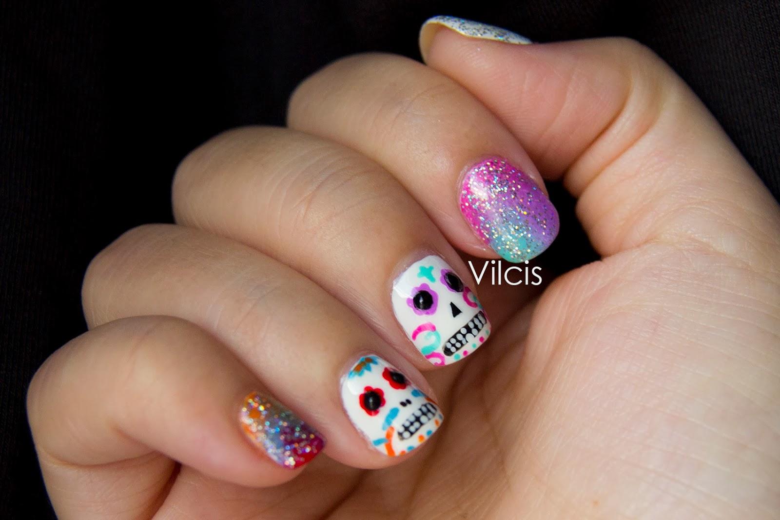 Vilcis nail designs: Diseño uñas Día de los muertos: calaveras de azúcar