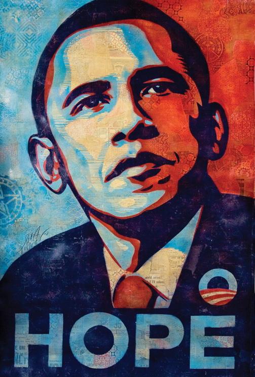 Obama Hope Change Poster Obama Hope Poster