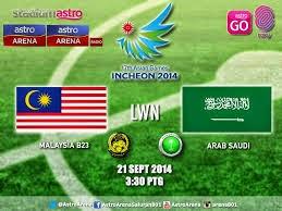 Video Gola Malaysia Vs Arab Saudi 0 3 Sukan Asia 2014