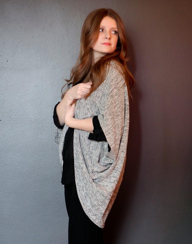 Sewing cardigan layered dressing