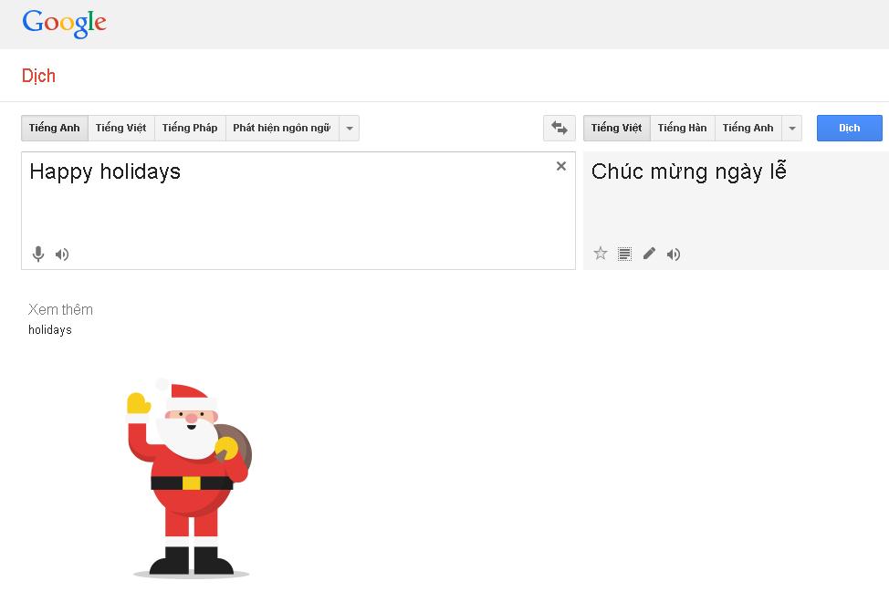 Trong Phục Sinh Trong Google Translate Vào Ngày Lễ Giáng Sinh