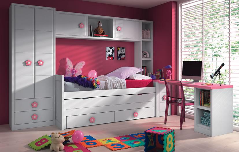 Dormitorios juveniles a medida Armario puente juvenil