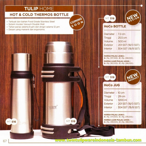 HoCo Bottle, HoCo Jug, Hot & Cold Thermos Bottle, Termos Tulipware 2014, Produk Design Baru