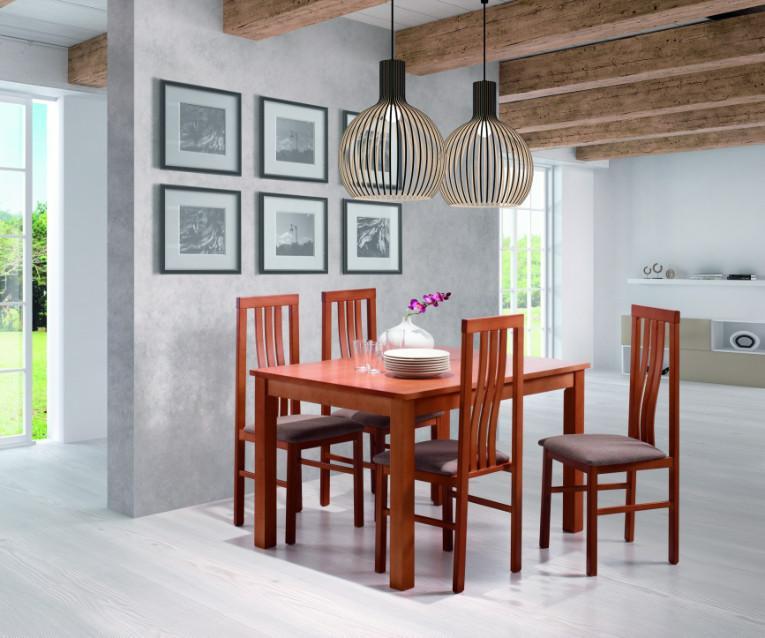 Pack mesa de comedor con 4 sillas por menos de 500 for Pack 4 sillas comedor