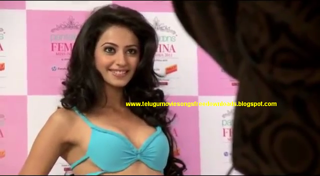 Rakul Preet Singh Bikini Hot Boobs Show