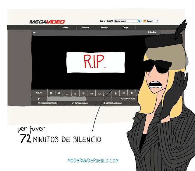 """Ilustración """"R.I.P."""" de Raquel Córcoles // http://modernadepueblo.com"""