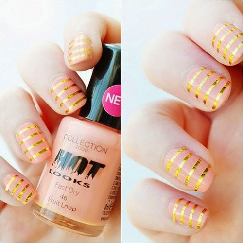 21 Cute Nail Art Designs Using Tape Do It Yourself Ideas And Projects