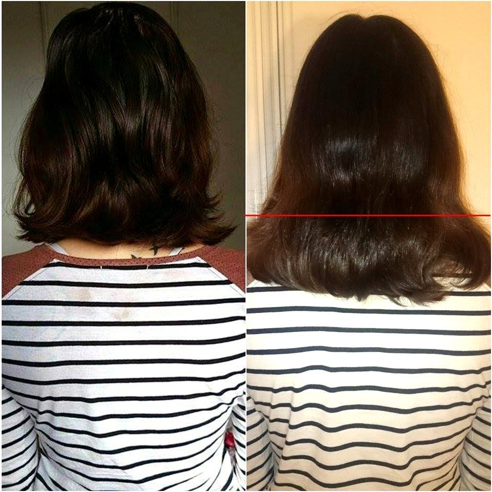 Pousse les cheveux par mois