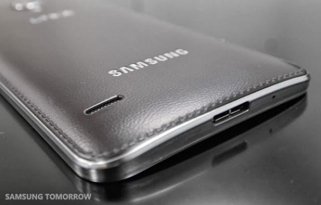 Samsung Galaxy Round Back Cover leather