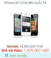 Tra gop Iphone 4s 32GB