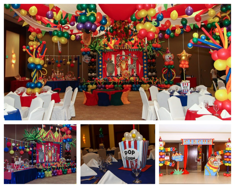 Ethan Zacharys Madagascar Circus Themed First Birthday Party