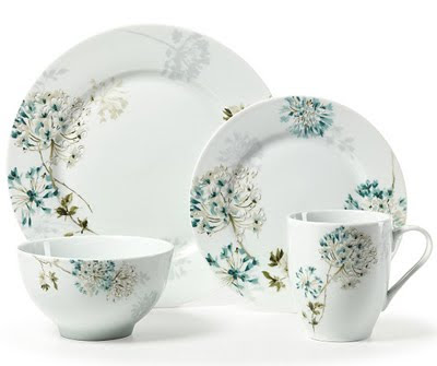 Mikasa u201cSilk Floralu201d Teal Dinnerware  sc 1 st  Everything Turquoise & Mikasa u201cSilk Floralu201d Teal Dinnerware | Everything Turquoise