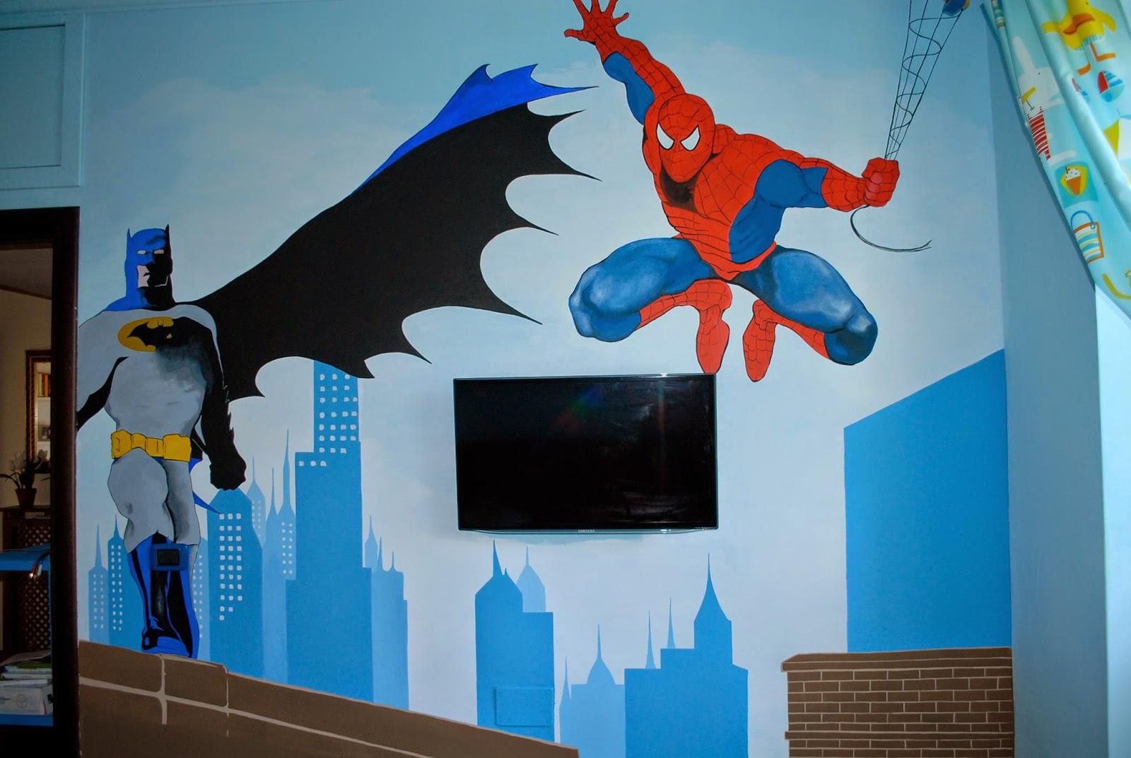 Francesca Decorazioni  Cameretta di Spiderman e Supereroi -> Lampadario Cameretta Spiderman