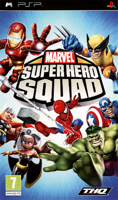 Free Download Marvel Super Hero Squad PSP Game Cover Photo