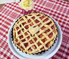 Torta de morangos com creme Pâtissière