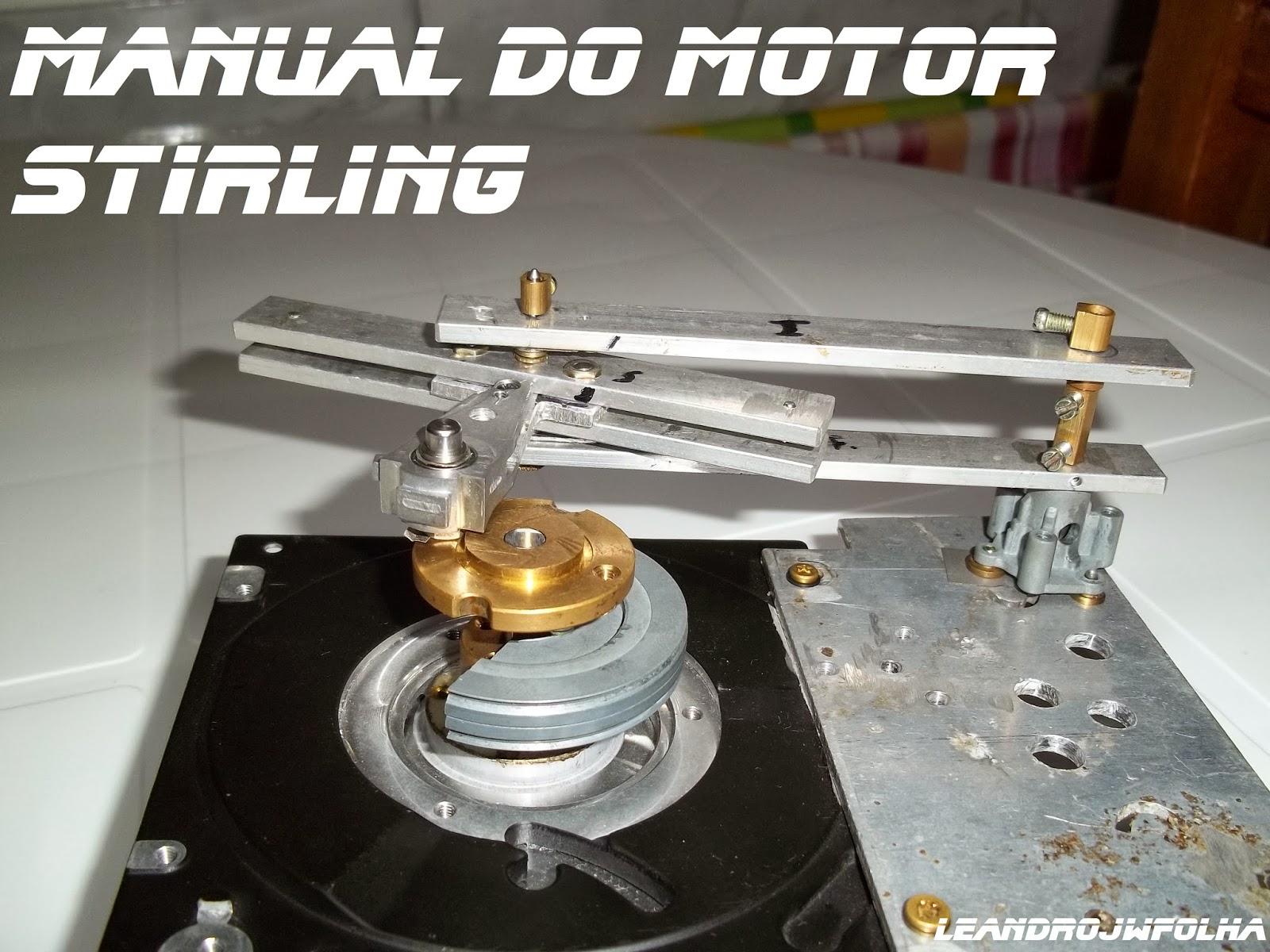 Virabrequim em construção de um motor Stirling Alfa Ross Yoke
