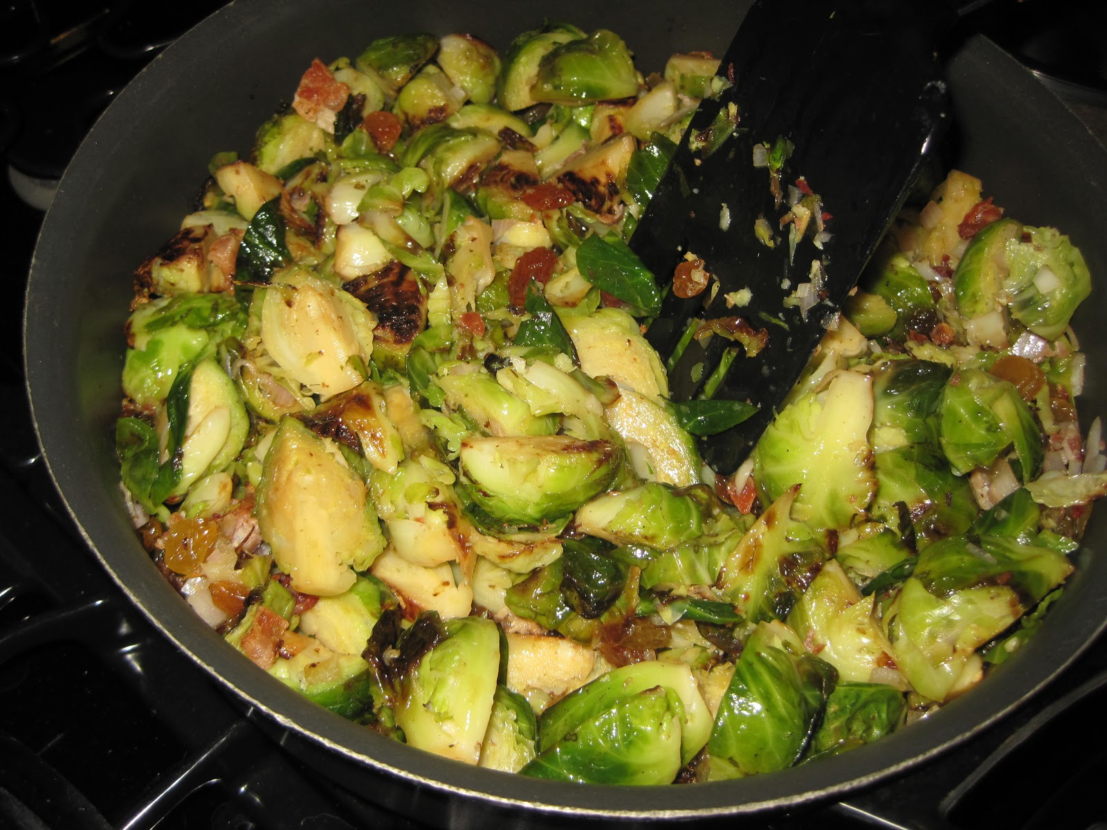 Brussels Sprouts with Bacon and Raisins | Boys and Beets | Farm Fresh ...