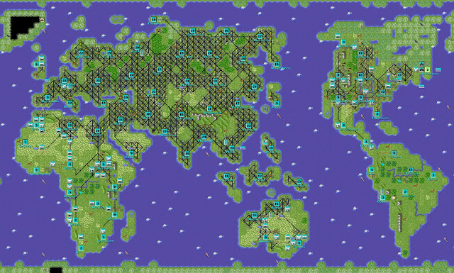 Civilization 1 - Huge Map of All Cities Screenshot