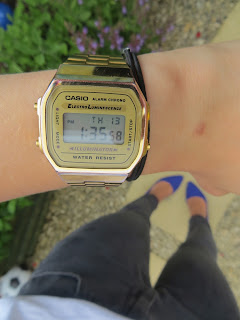 Fashion Casio Retro Gold Watch