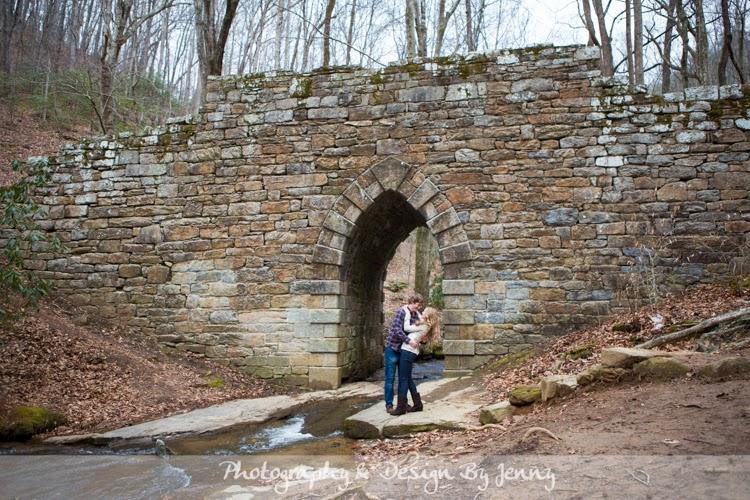 Poinsett Bridge engagement photography session photos