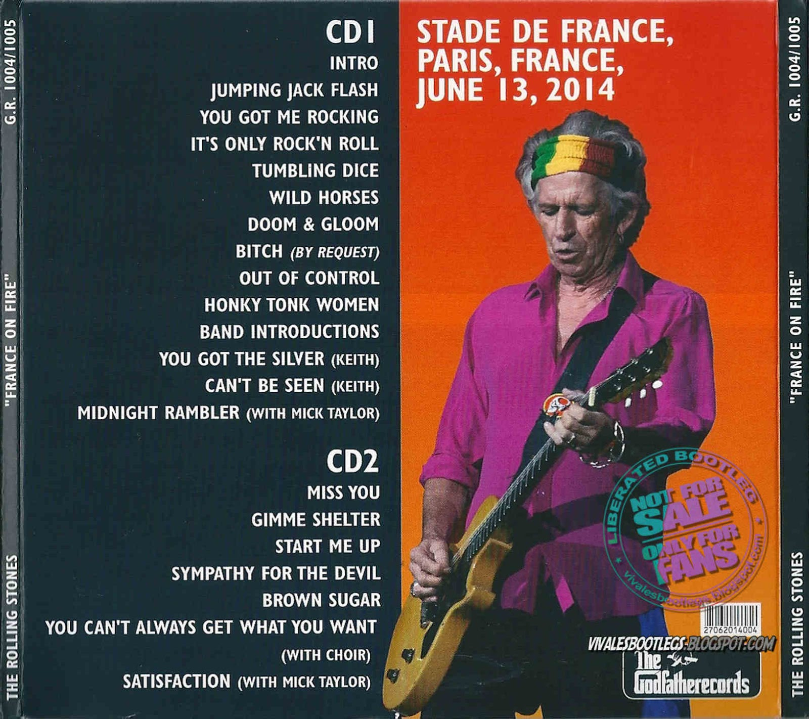 the rolling stones france on fire stade de france paris france double cd. Black Bedroom Furniture Sets. Home Design Ideas