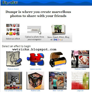 Dumpr:Edit your photos and give them a cool funny look