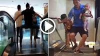 شاهد بالفيديو ردود فعل الصينيين عند صعودهم على السلم الكهربائى بعد حادث إبتلاع الأم