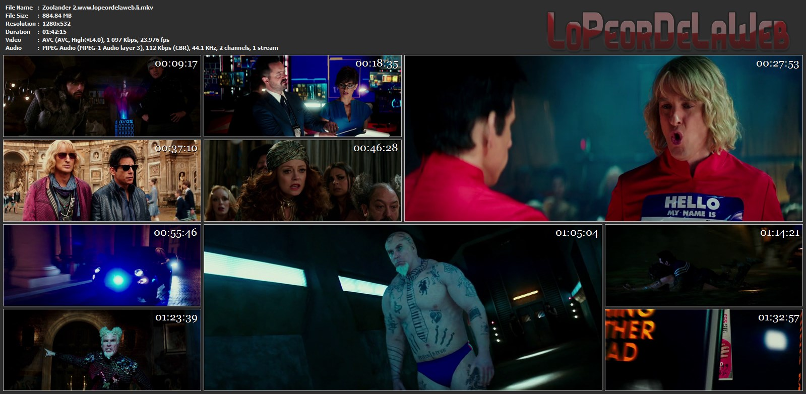 Zoolander 2 720p Latino (2016) [Mega - Uptobox]