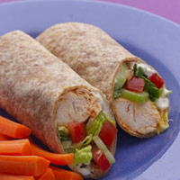 Healthy Buffalo Chicken Wrap
