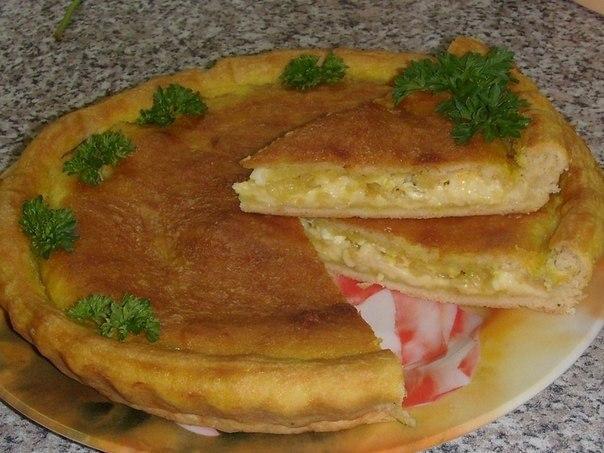 Луковый пирог рецепт плавленным сыром фото